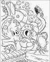 disegno di Sebastian  alle prese col polipo