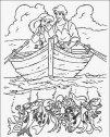 immagine di Ariel in barca con Eric