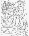 La sirenetta festeggia con Tritone, colora