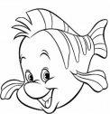 Colora il  pesciolino Flounder