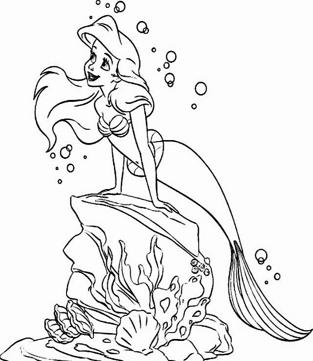 Sirenetta da colorare disegni gratis for La sirenetta da stampare
