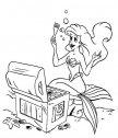 Ariel trova un tesoro, stampa e colora