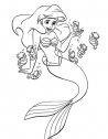 colora la sirenetta con i cavallucci marini
