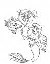 disegno di Ariel con l'amico  Flounder