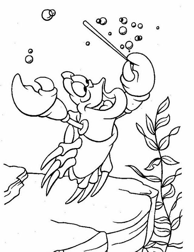coloring pages of ariel in the sea | Sirenetta da colorare | Disegni Gratis