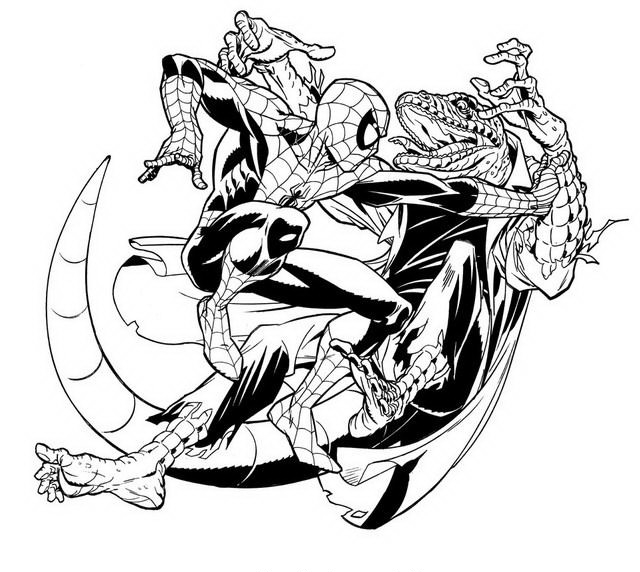disegni di spiderman da colorare e stampare gratis sono