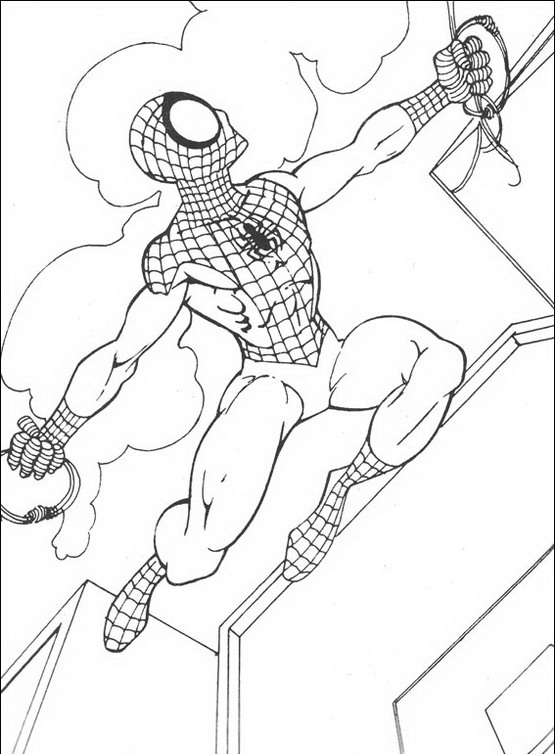 Spiderman da colorare Disegni