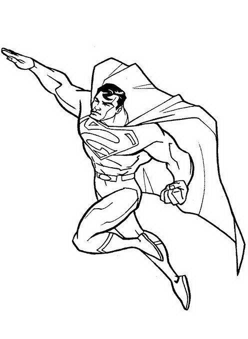 Superman Da Colorare Disegni Gratis