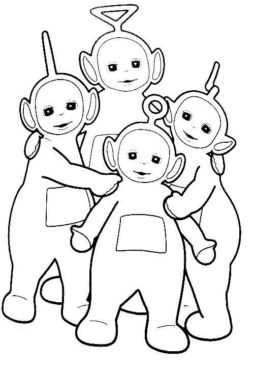 Teletubbies da colorare disegni gratis for Disegni di scantinati di sciopero