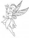 colora campanellino con le ali da farfalla