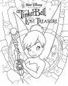 campanellino e il tesoro perduto, stampa e colora