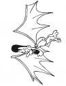 Disegno di vampiro con ali di pipistrello.