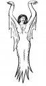 Disegno di vampiro egiziano.