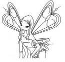 disegno di roxy con le ali