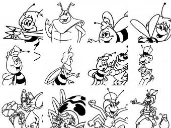 Ape maia da colorare disegni gratis for Disegni da colorare e stampare ape maia