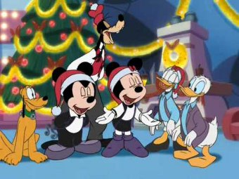 Auguri Di Buon Natale Disney Cartolina