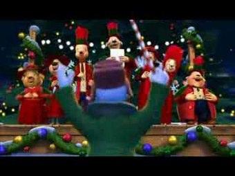 Buon Natale E Bun Anno Disney Cartolina