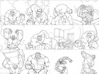 Hulk da colorare disegni