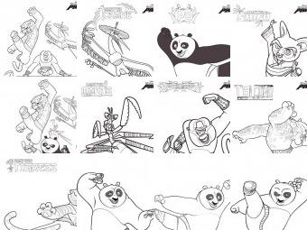 Kung Fu panda da colorare disegni
