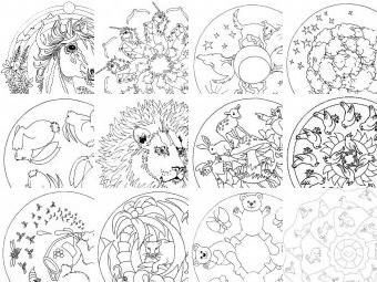 Mandala da colorare disegni