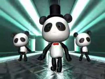 Panda Dance Cartolina