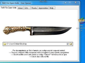 Rar File Open Knife Italiano