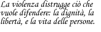 Una frase di Giovanni Paolo II sulla violenza frase