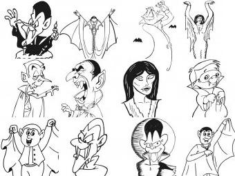 Vampiri da colorare disegni