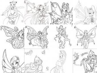 Winx da colorare disegni